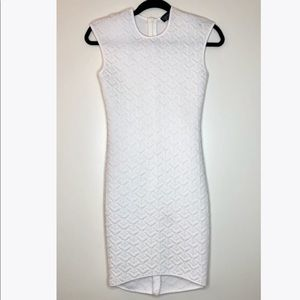Topshop quilted midi dress